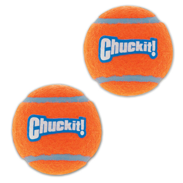 New Chuckit!-Tennis Balls-Rubber Floats Interactive Dog Toys fit Launchers $10.78