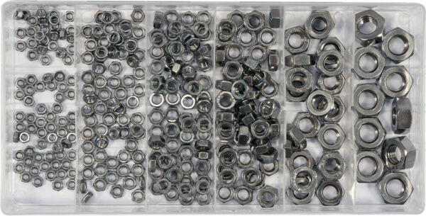 Set of Hex Nuts Stainless 300pcs