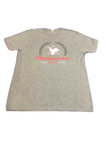 Gray Budweiser Shirt Size XL 36