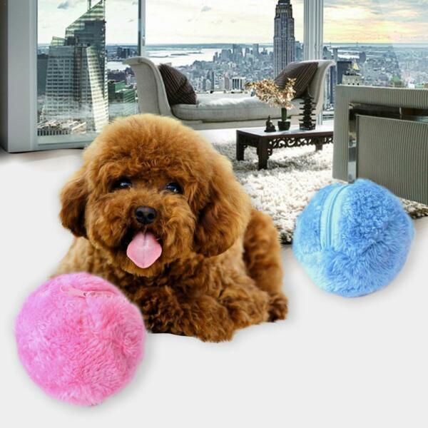 Activation Automatic Ball for Dog Puppy Pet Chew Electric Plush Vacuum Toy Ball $7.66
