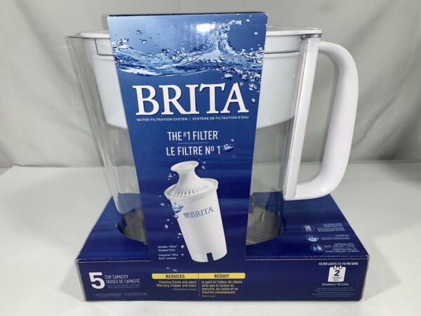 Brand New Brita 5 Cup Metro Water Pitcher with 1 Filter White