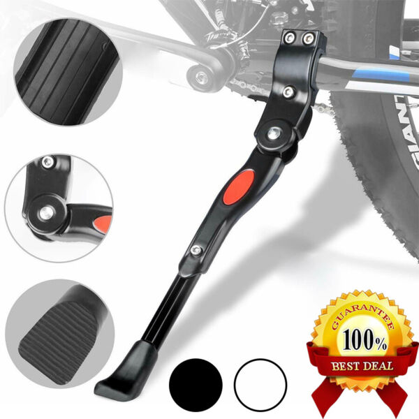 Bike Support Bicycle Stand Kickstand Adjustable Aluminum Alloy White Black US $9.39