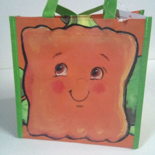 NEW! Barnes & Noble Spookely The Square Pumpkin Tote Bag Double Handle Orange