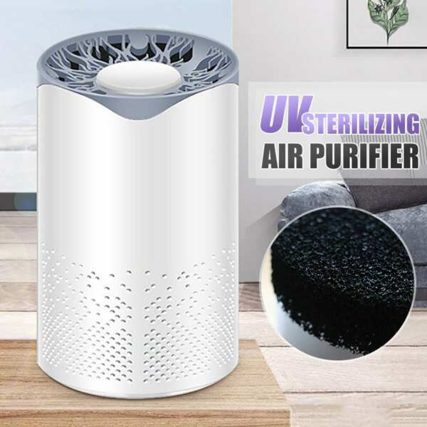 Air Purifier UV Light Hepa Cleaner Filter Purifying Ultraviolet Purifiers US