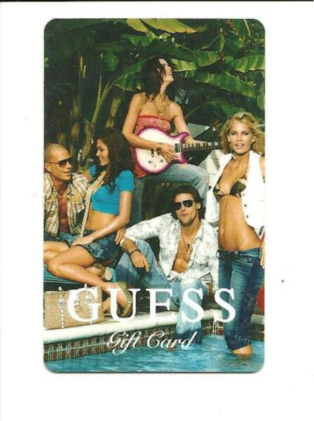 Guess Sexy Clothing Store Gift Card No $ Value Collectible