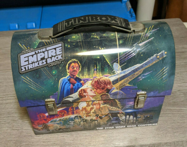 2012 Star Wars The Empire Strikes Back Metal Tin Lunch Box Pencil Toy Carrier $12.95