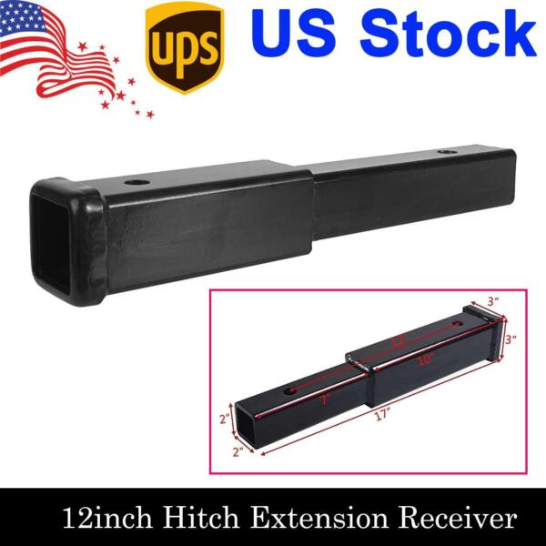 12 Inch Trailer Hitch Extension Receiver 2quot; Extender 5 8quot; Pin Hole 4000 LBS Tow $30.99
