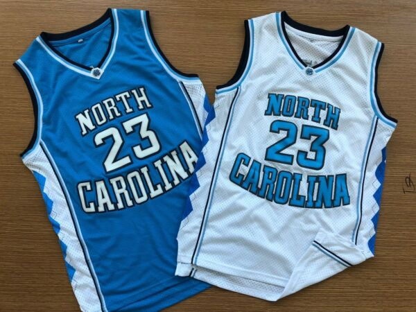 Mens Michael Jordan 23 NORTH CAROLINA TARHEELS Basketball Jersey S-XXL stitched