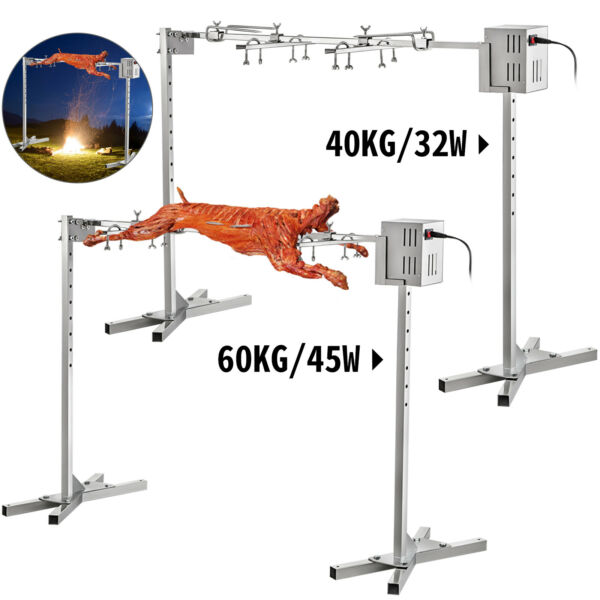 BBQRotisserie GrillStainless Lamb Skewer 90lb 125lb Capacity45W 32W Outdoor