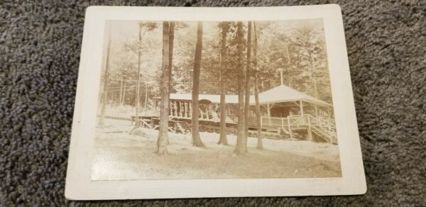 Antique ORIGINAL LAKE GEORGE NEW YORK INCLINE RAILWAY CAR STATION PHOTO
