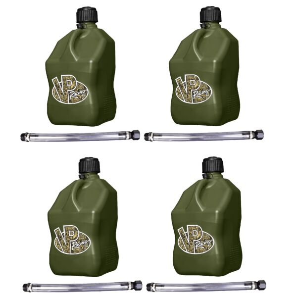 VP Racing Fuels 5 Gal. Motorsport Container Camo w 14quot; Standard Hose 4 Pack $103.79