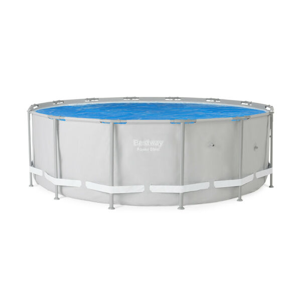 Bestway 14 Foot Round Above Ground Solar Heat Pool Cover Pool Not Included $42.33