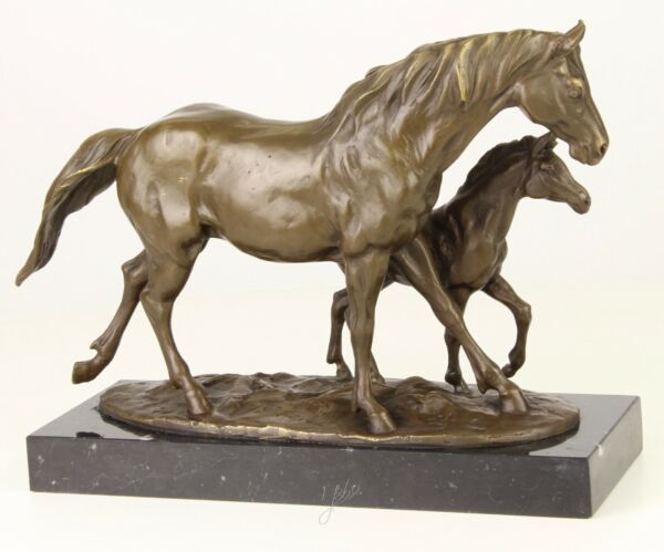 HORSE AND FOAL GENUINE HOTCAST BRONZE STATUE FIGURE COLLECTABLES SEE MY ITEMS
