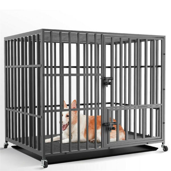 L XL XXL Folding Large Dog Cages Pet Manage Fences Crates Box Door Lock Anti bit $259.95
