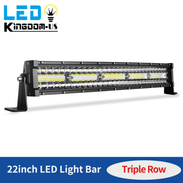 450W 22inch Led Light Bar Tri Row Combo Work Driving UTE Truck SUV 4WD Boat 24#x27;#x27;