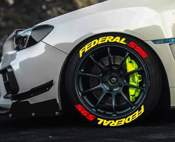 TIRE LETTERS 1.25quot; FEDERAL Red 595 YELLOW 15quot; 22quot;