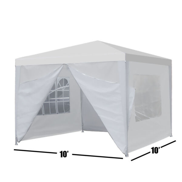 Durable Canopy Party 10quot;x10quot; Outdoor Wedding Tent Gazebo with 4 Side Walls $53.89