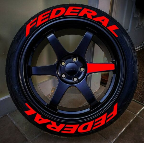 TIRE LETTERS 1.25 quot; FEDERAL Red 15quot; 22quot;