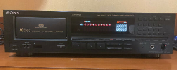 SONY 10 DISC AUTOMATIC CHANGER CDP- C910 PLAYER $54.99