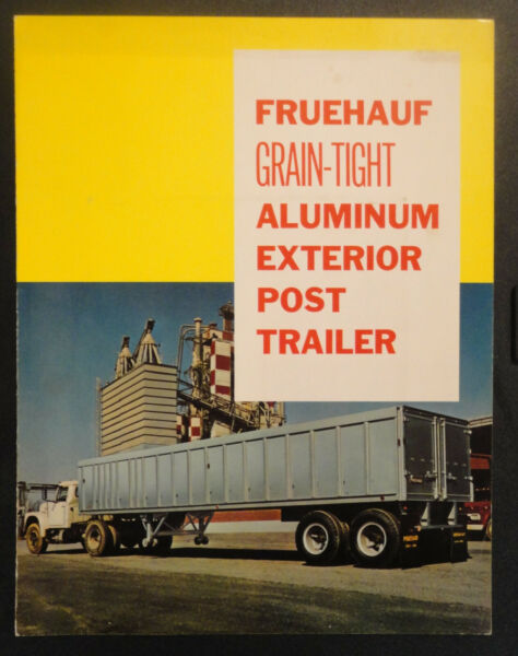 Fruehauf Grain Tight Aluminum Exterior Post Trailer Sales Brochure