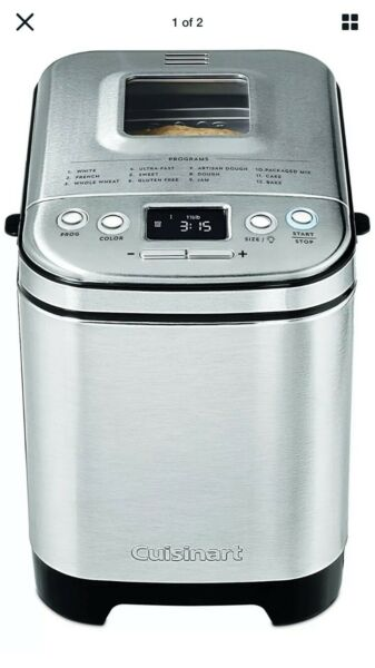 New Cuisinart Bread Maker Up To 2lb Loaf Compact Automatic