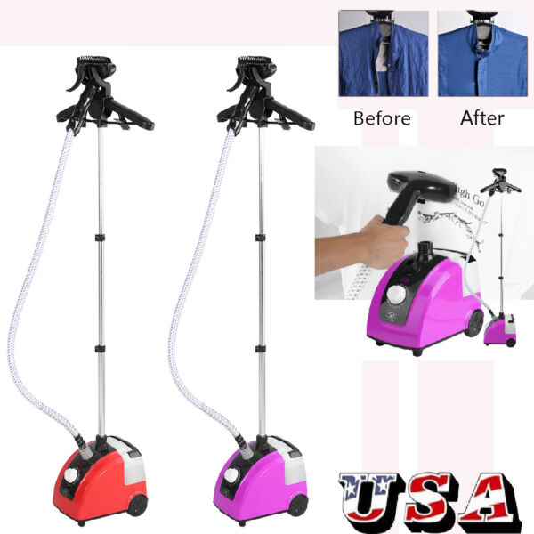 1300W Professional Garment Clothes Fabric Steamer Iron Steam Wrinkle Remove Home