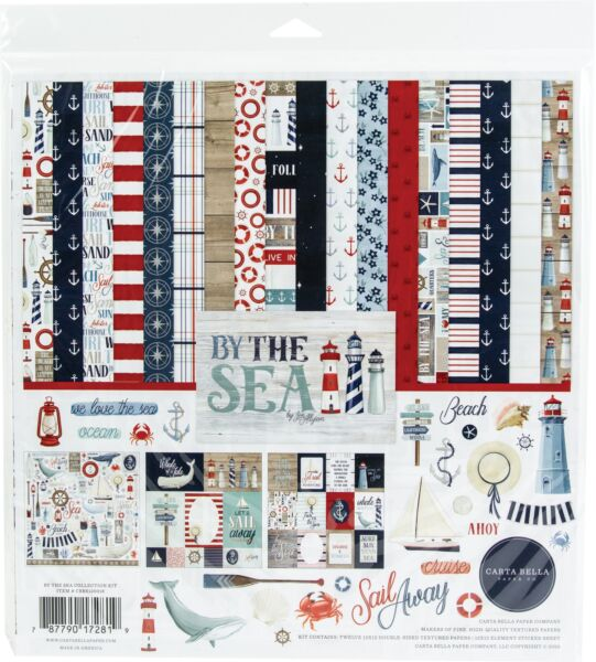 Echo Park Paper Carta Bella Collection Kit 12quot;X12quot; By The Sea