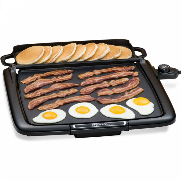 Electric Griddle BBQ Presto Countertop Indoor Smokeless Cooking Large Grill NEW