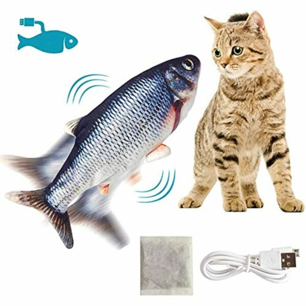 Interactive Dancing Fish Cat Toys For Indoor Cats Automatic Moving Chew Pet $16.95