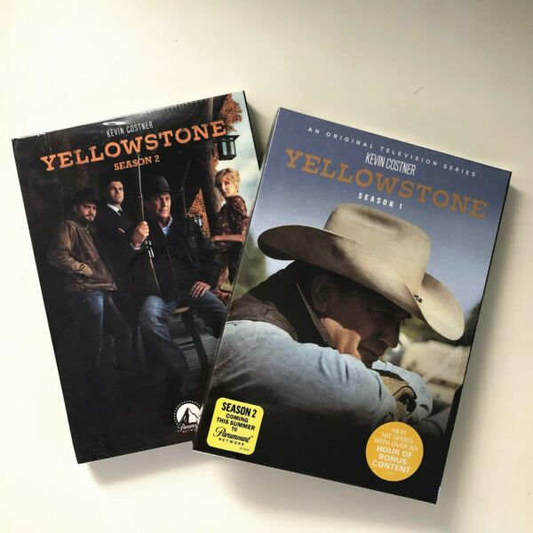 Yellowstone Season 1-2 TV Series Complete First Second (DVD8 Disc Set) Region 1