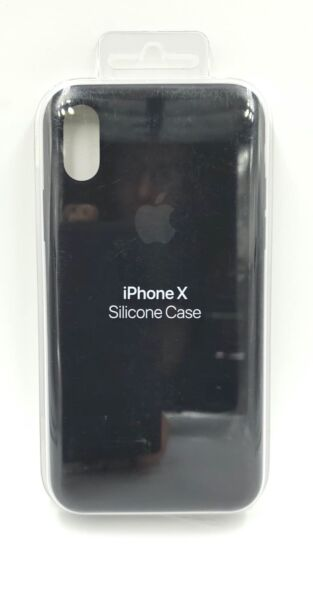 100% Authentic Apple iPhone X Silicone Case Black MQT12ZM A NEW $17.99