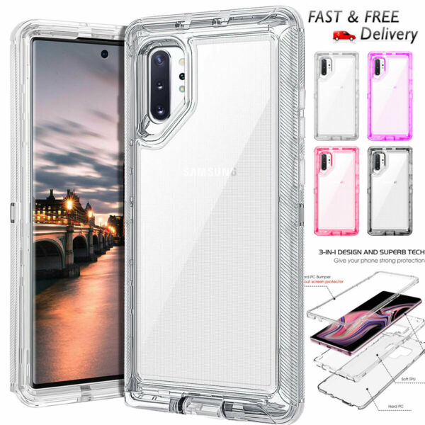 For Samsung Galaxy Note 10 Plus Transparent Case Hybrid Shockproof Heavy Cover $8.99
