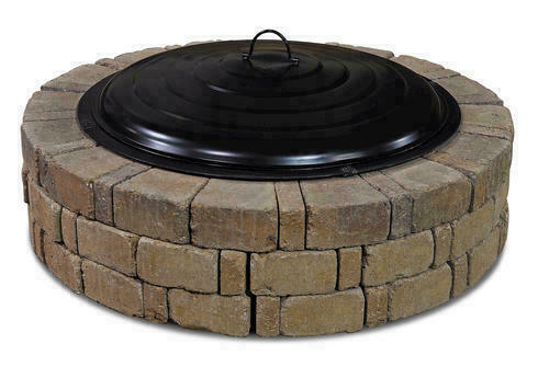 Large 31quot; Black Fire Ring Lid Decorative Spark Screen Wood Fire Pit Accessory $99.99