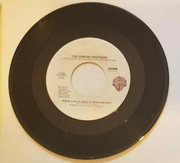 Osmond Brothers 45 Where Does an Angel Go One More for Lovers NM NEW unplayed $10.00