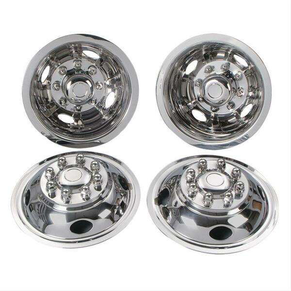 Steel Chevy GMC 16quot; 8 Lug Dual Wheel Simulators Dually hubcaps Liners Covers