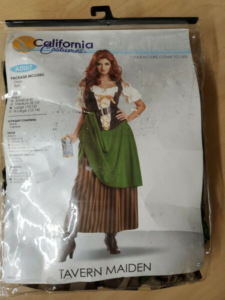 Beer Tavern Maiden Oktoberfest Pirate Beer Wench California Costumes Large 10 12 $16.99