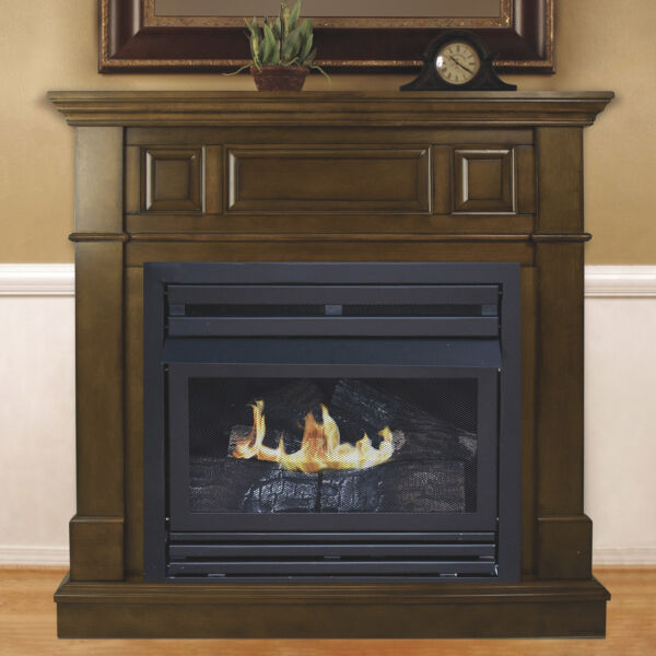 Pleasant Hearth Vent-Free Fireplace- 27500 BTU 42in Natural Gas Heritage Finish