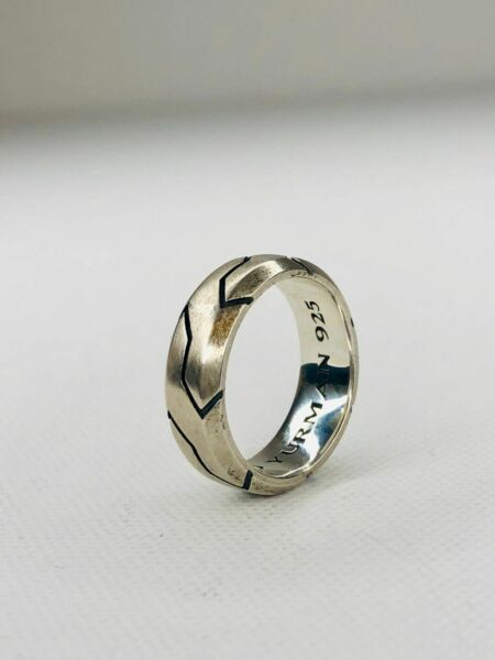 DAVID YURMAN Men#x27;s 10mm Forged Carbon Band Ring Sterling Silver $375.00