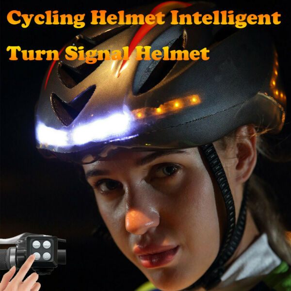 Smart Bike Helmet With Wireless Turn Signal Handlebar Remote USB Rechargeable $82.64