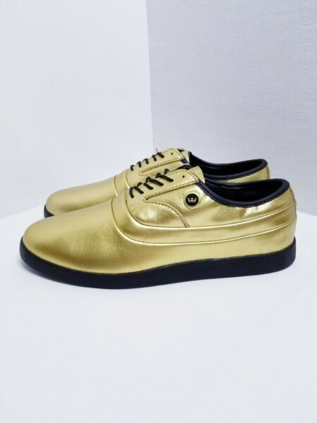 New Rare Supra Size 8.5 Jim Greco Skate Shoes 7th Pro-Model Gold Leather Mens C