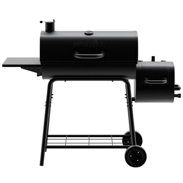 Nexgrill Barrel Charcoal Grill Smoker 29 in. Outdoor Patio Barbecue BBQ Black