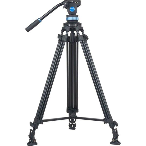 Sirui SH 25 75mm Bowl Aluminum Tripod Fluid Video Head Spike Feet 75quot; Height