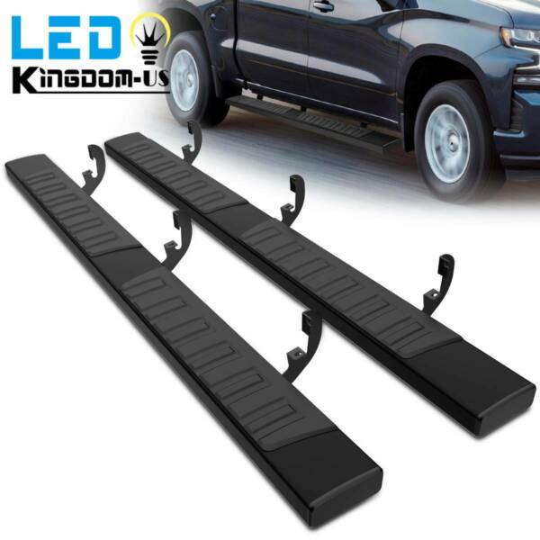 6quot; Running Boards for 19 21 Silverado Sierra 1500 Crew Cab Nerf Bars Side Steps
