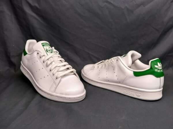 Adidas Men's Stan Smith Casual Sneakers Leather White Green Size 11.5 NWOB!