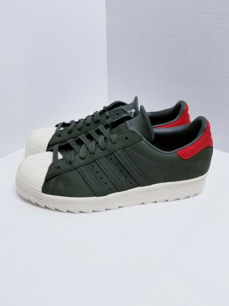 Adidas Size 10 NEW Originals Superstar 80s Mens Leather Sneaker Fashion Retro D