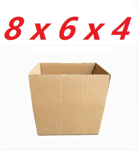 100 8x6x4 Cardboard Paper Boxes Mailing Packing Shipping Box Corrugated Carton