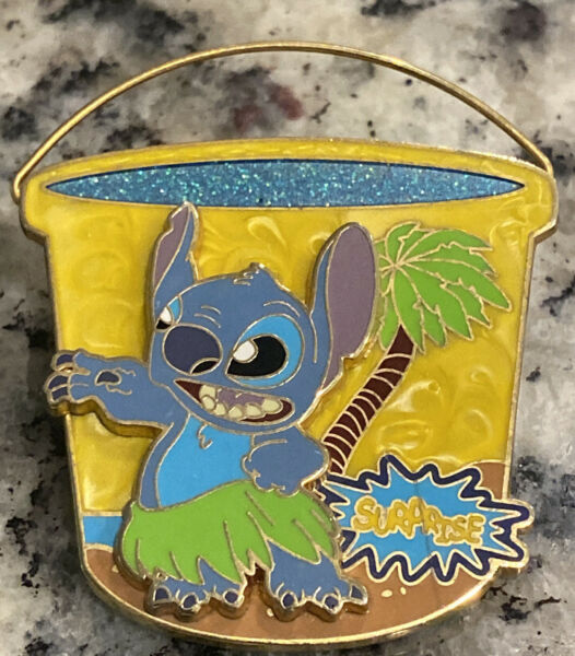 Disney Surprise Pin Collection Beach Bucket Stitch Limited Edition Of 1000 Pin
