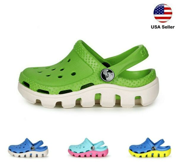 Kids L Croc Style Clogs For Boys Girls Toddler Big Kid Style Garden Slip On Shoe