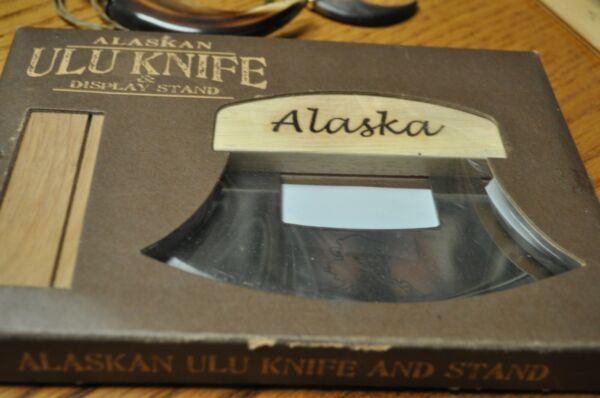 Alaskan ULU eskimo style knife NIB with display stand
