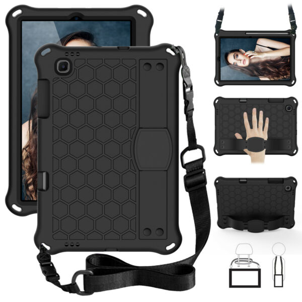 Galaxy Tab S6 Lite Foam CaseShoulder Strap Hand Strap with Retractable Stand $19.99